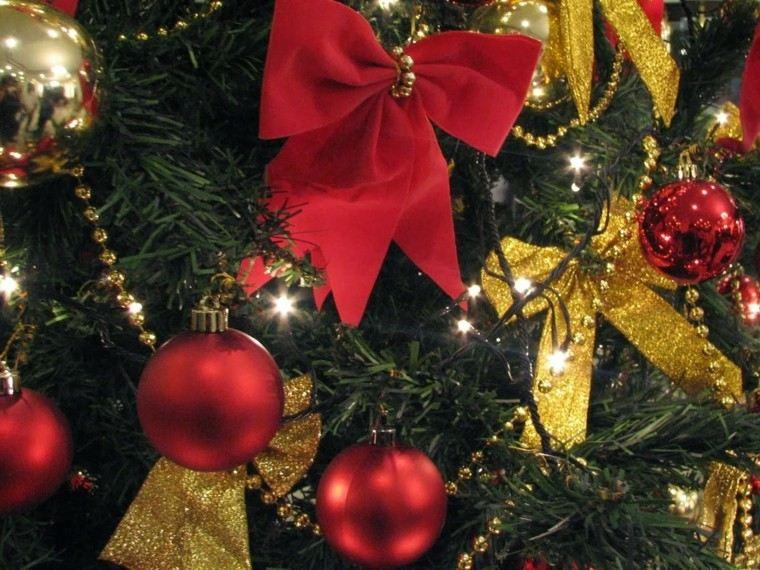 color rojo oro adornos navidad decoracion artistica ideas