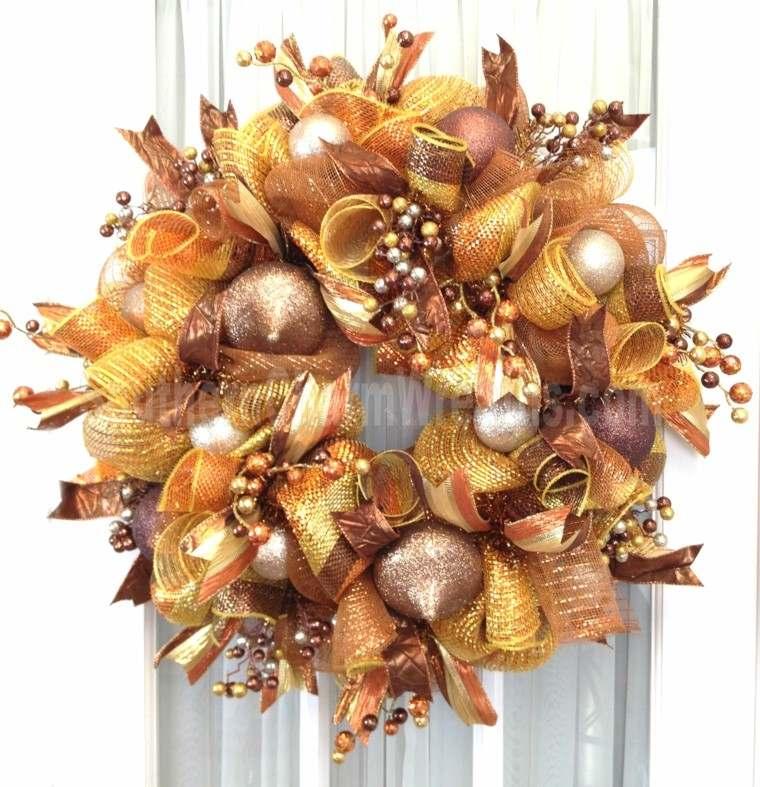 color rojo oro adornos navidad guirnalda lujosa ideas