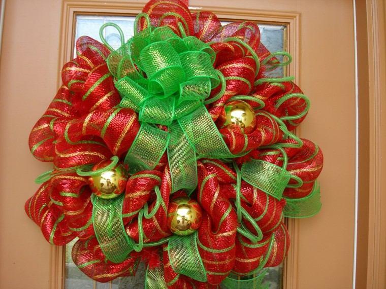 color rojo oro verde puerta guirnald ideas