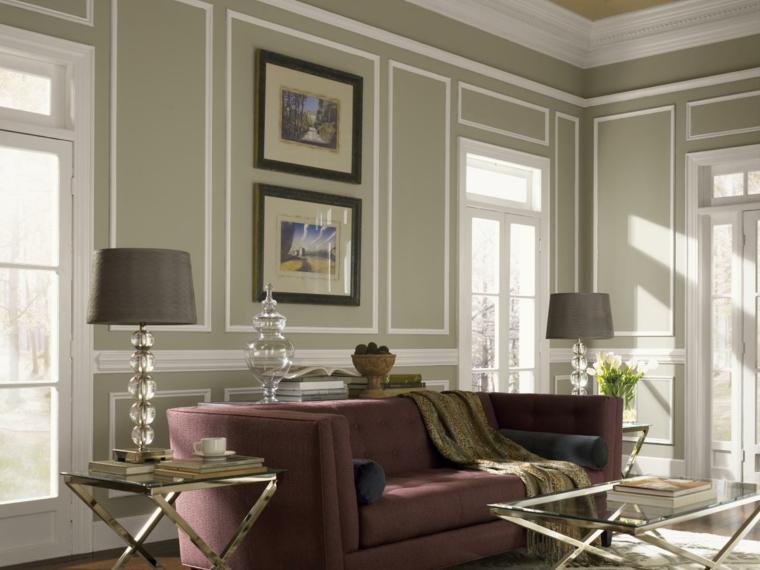 Colores decoracion y acentos de borgo a en interiores - Papeles pintados clasicos ...