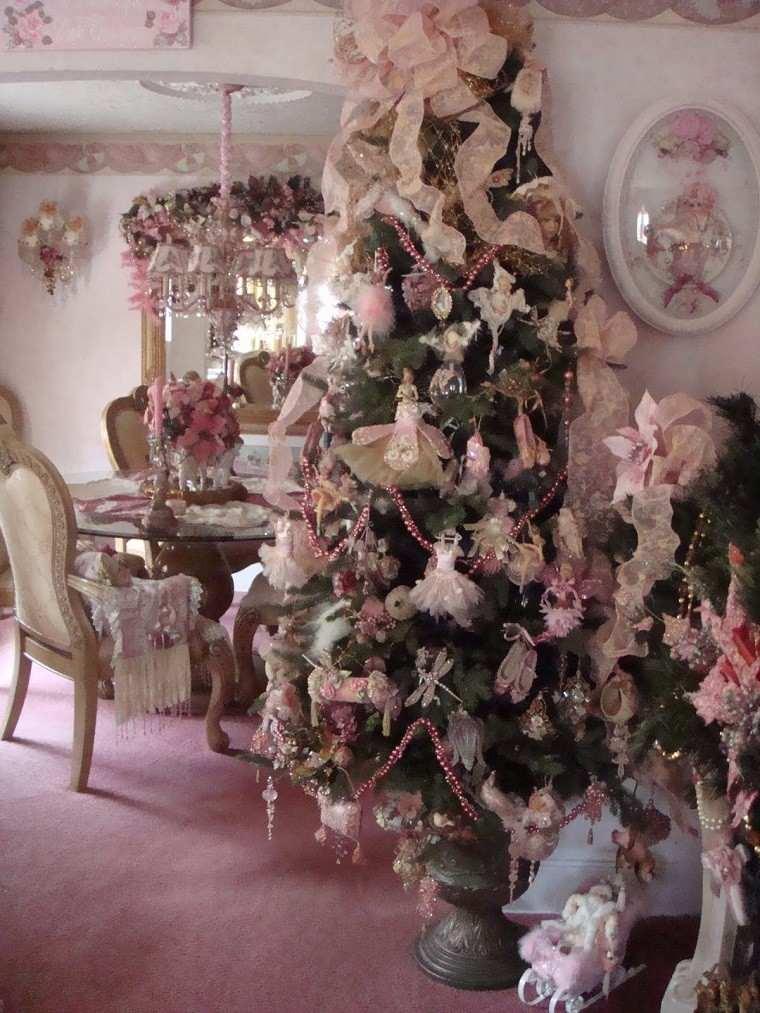 color pastel navidad arbol angeles lazos moderno