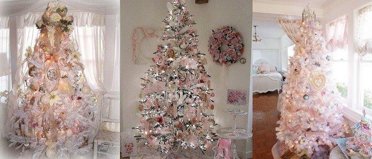 Colores pastel 23 ideas para la decoraci n navide a - Arbol navidad colores ...