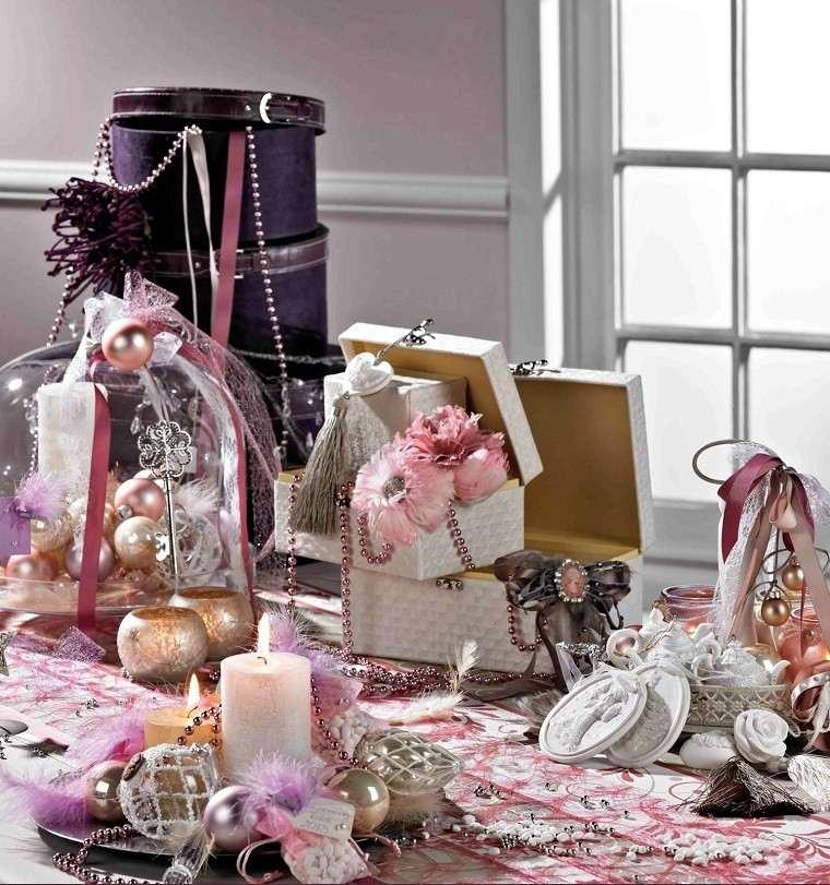colores pastel navidad bolas candelabros adornos ideas