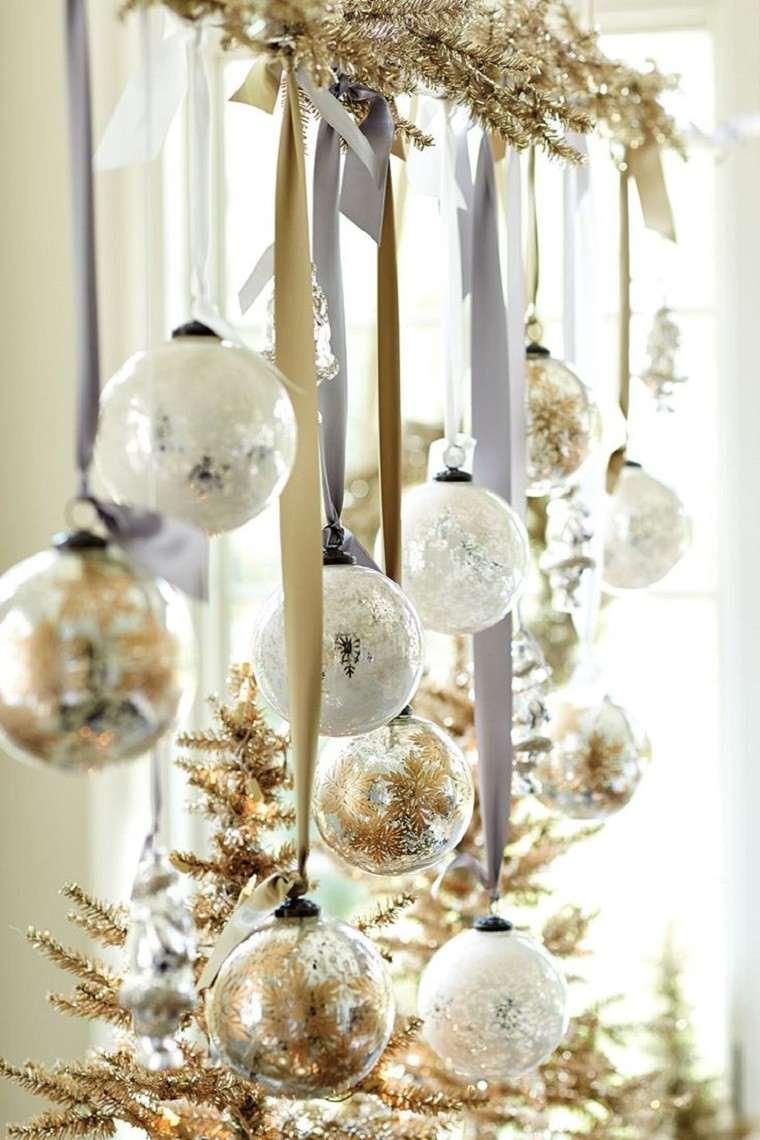 colores pastel navidad bolas lazos plata blanca ideas