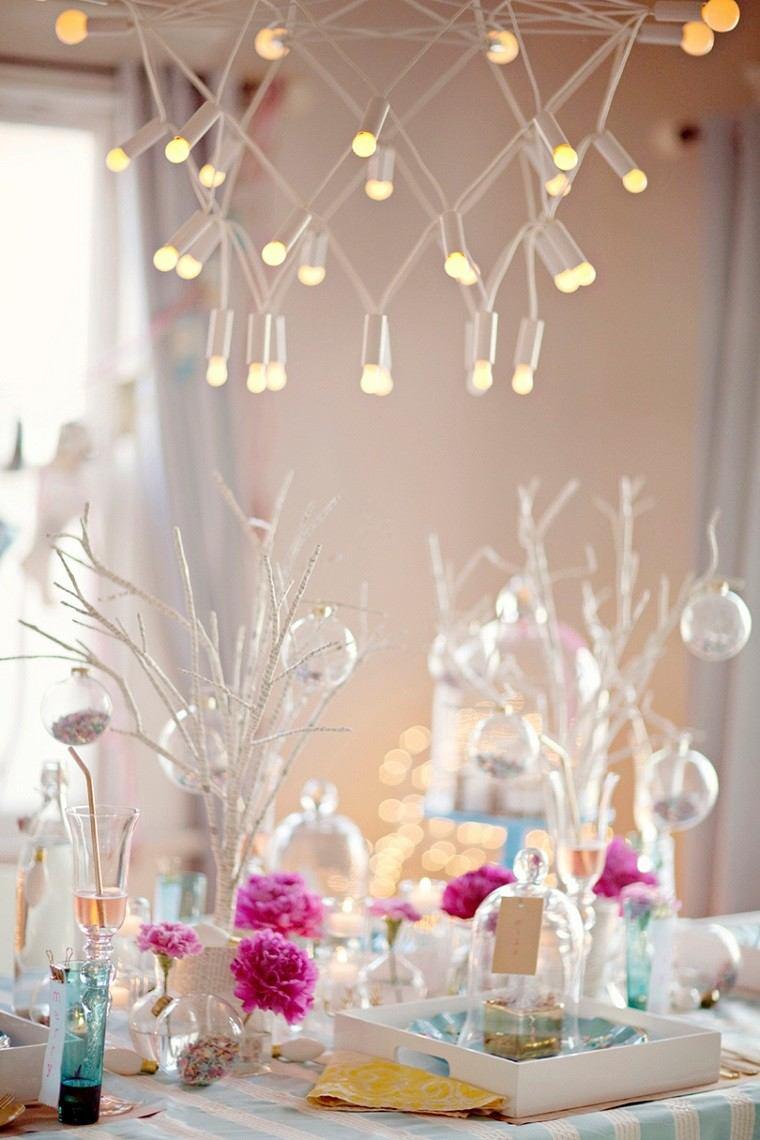 color pastel navidad mesa decoracion lujosa ideas