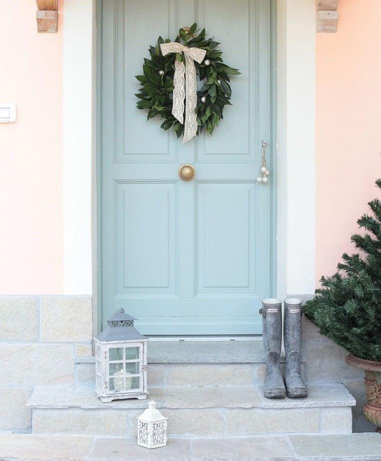color pastel navidad puerta guirnalda arbol ideas