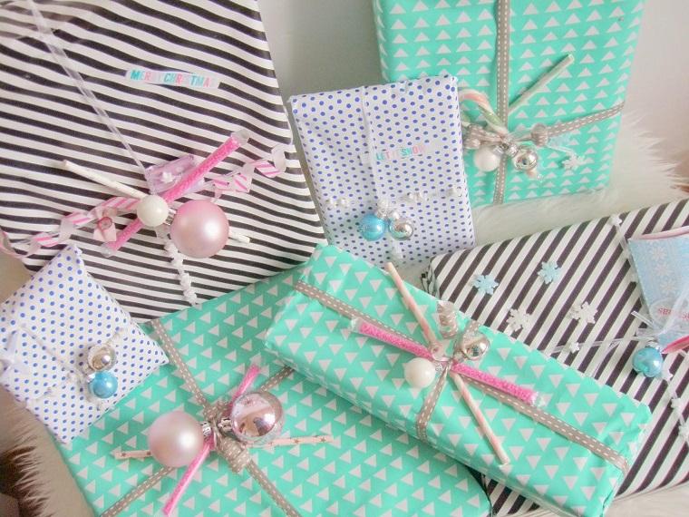 color pastel navidad regalos papel precioso bolas ideas