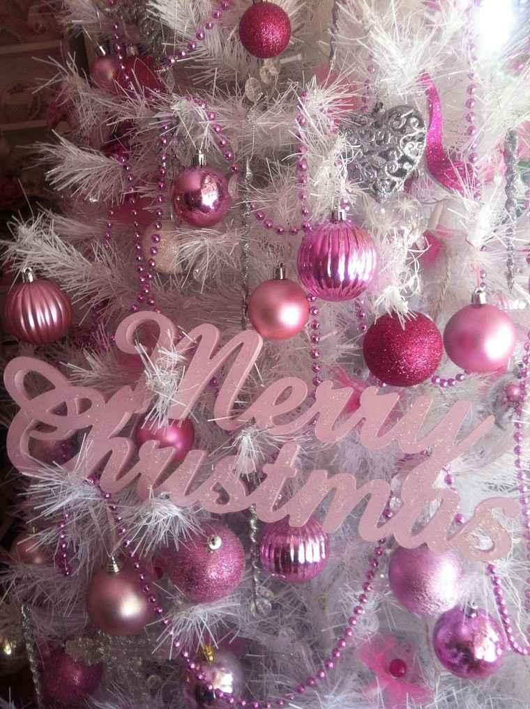 Colores pastel 23 ideas para la decoraci n navide a - Arboles de navidad rosa ...