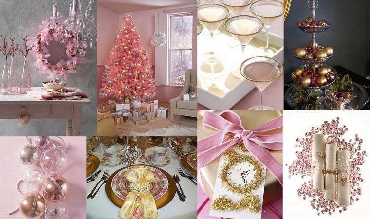 Colores pastel 23 ideas para la decoraci n navide a for Decoracion navidena moderna