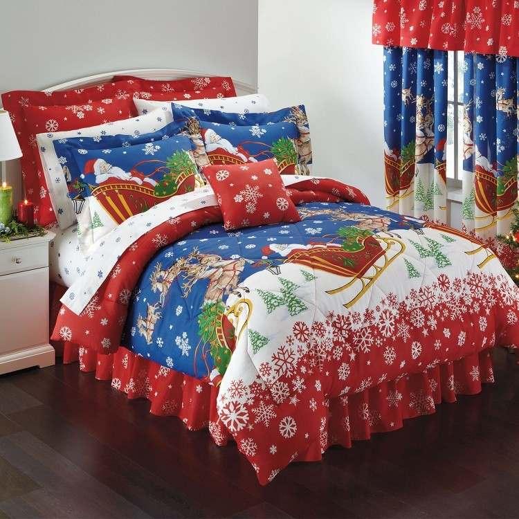 colorido ambiente diseño santa rojo