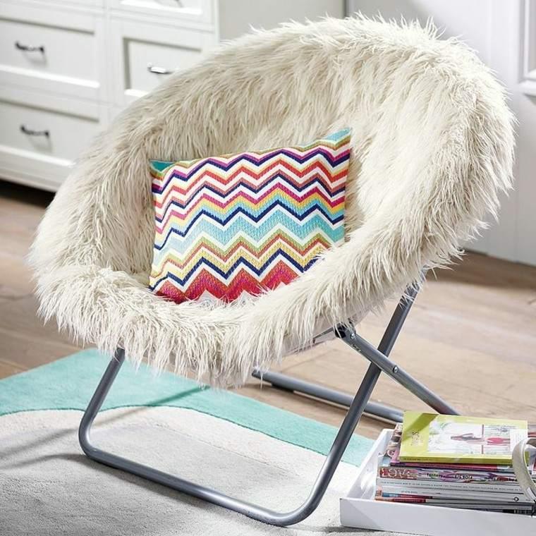 colorido muebles sillon gavetas plegable