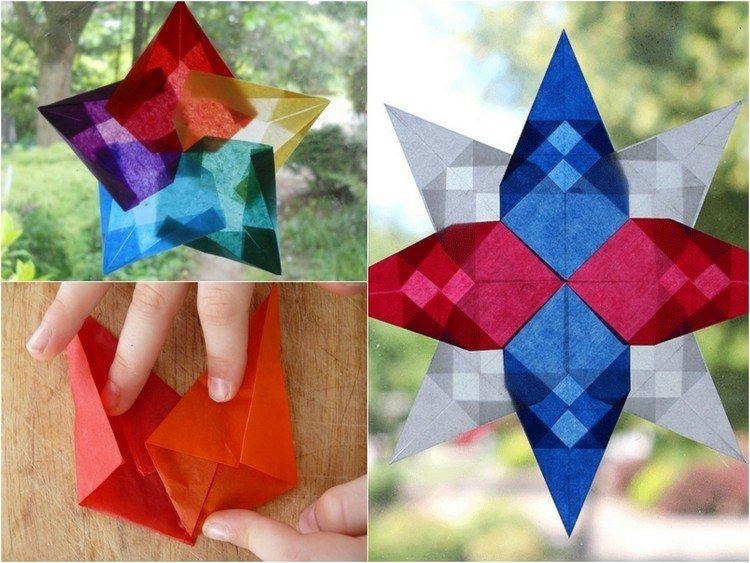 colorido papeles jardines plantas origami