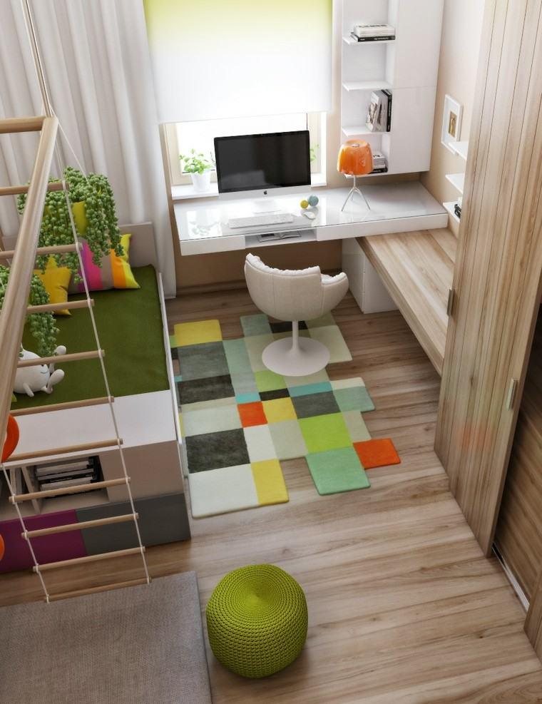 combinacion suelo mesa verde colorido
