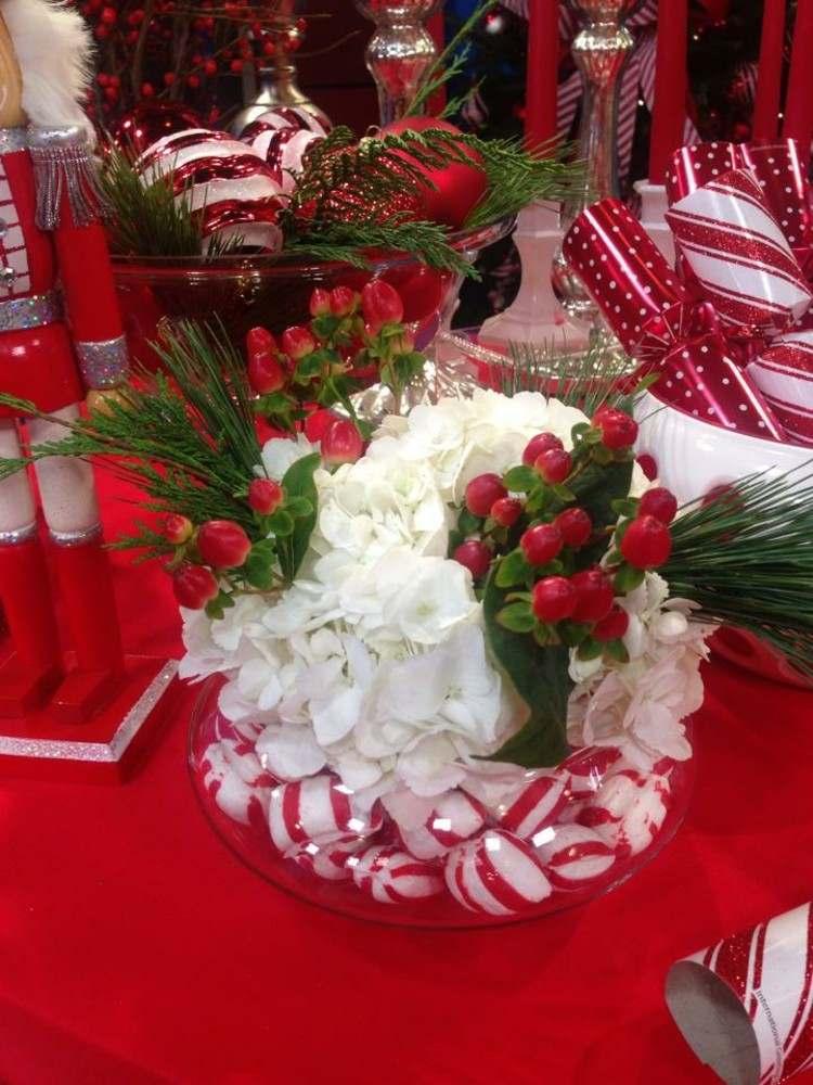 comedor manteles rojo mesas caramelos