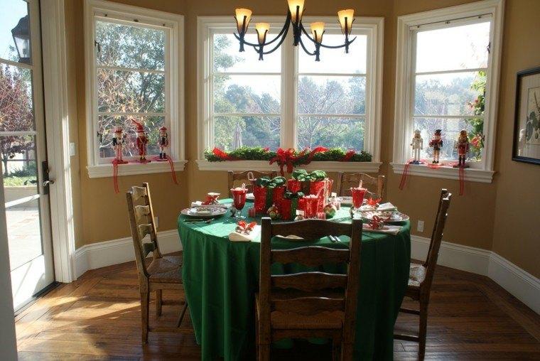 comedores navidad ideas estilo fresco verde