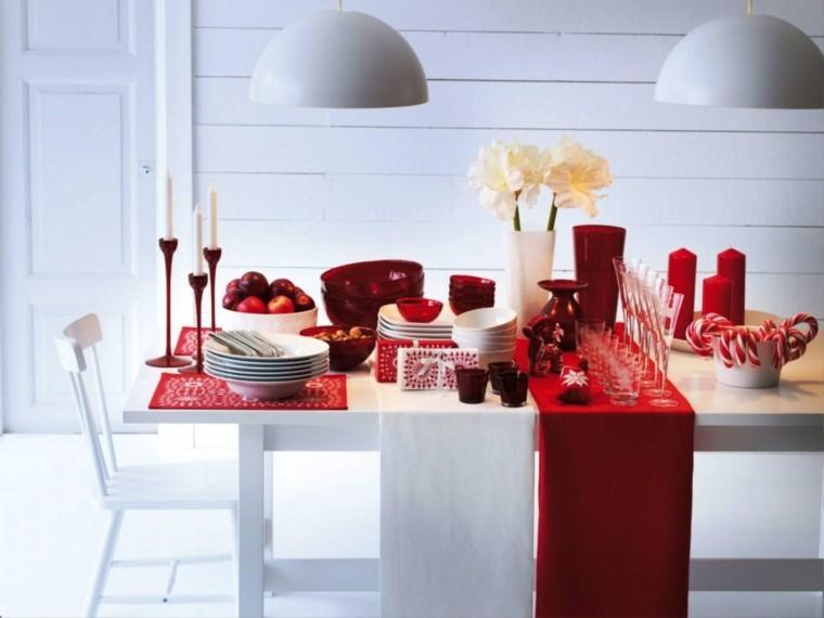 comedores navidad ideas estilo minimalista flores