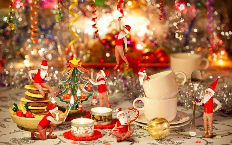 comedores navidad ideas estilo muñecos minimalista