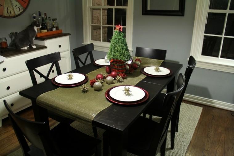 comedores navidad ideas estilo oscura natural
