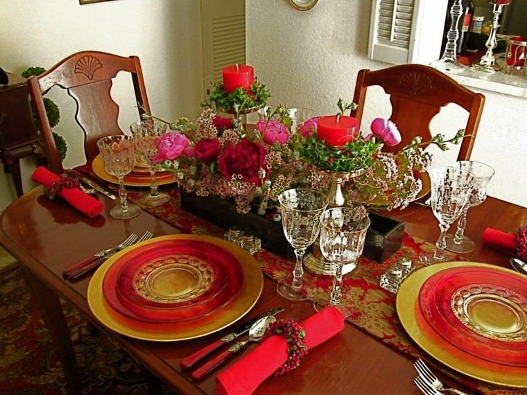 comedores navidad ideas estilo sillas colorido