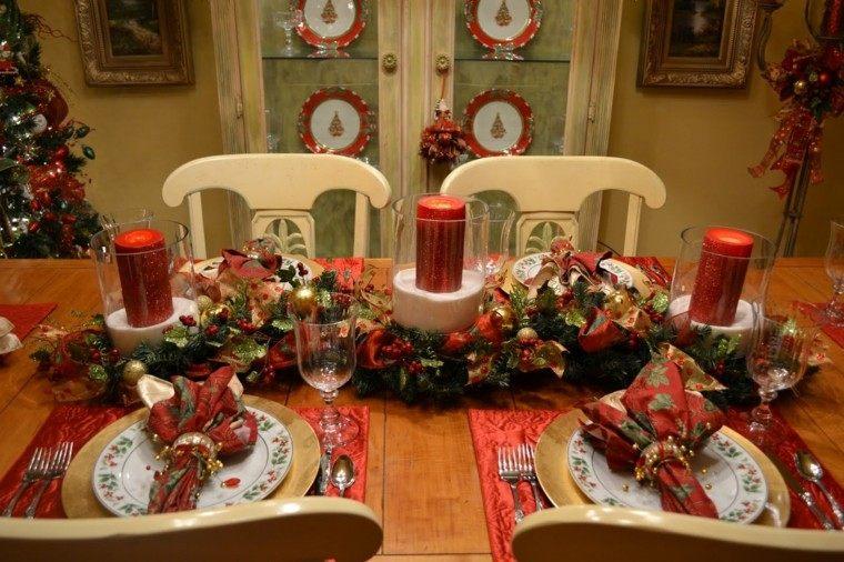comedores navidad ideas estilo velas mobiliario