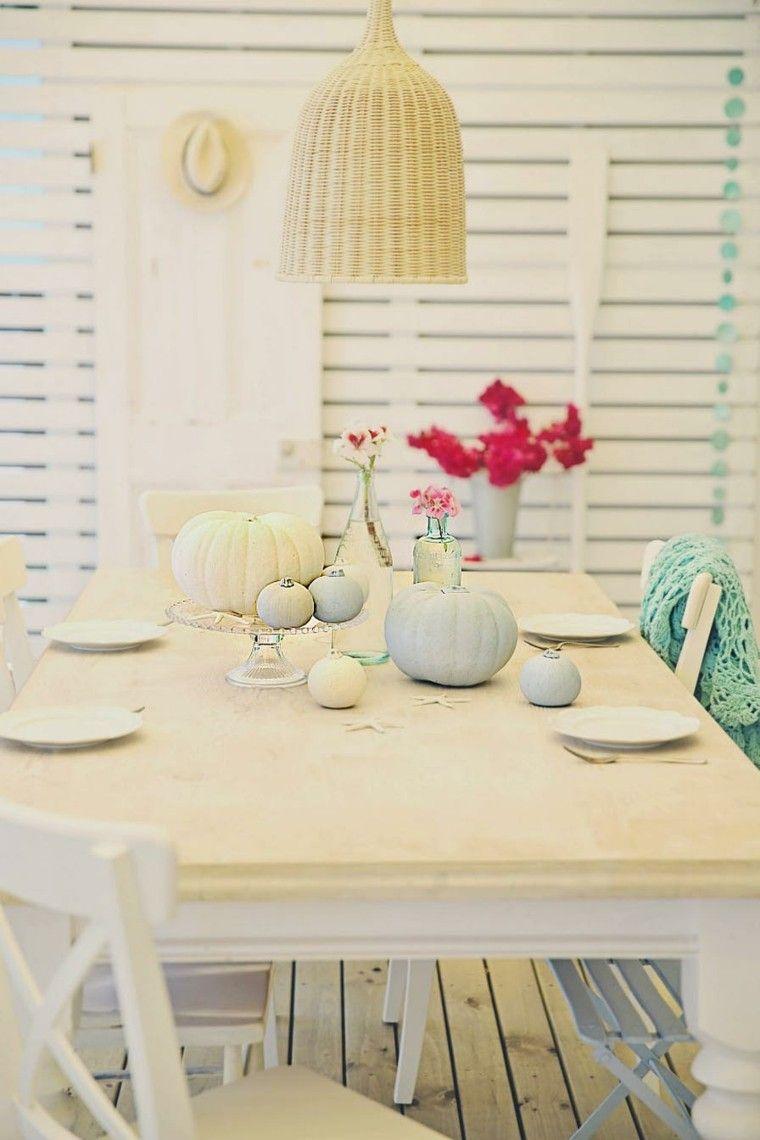 como decorar mesa otoño flores