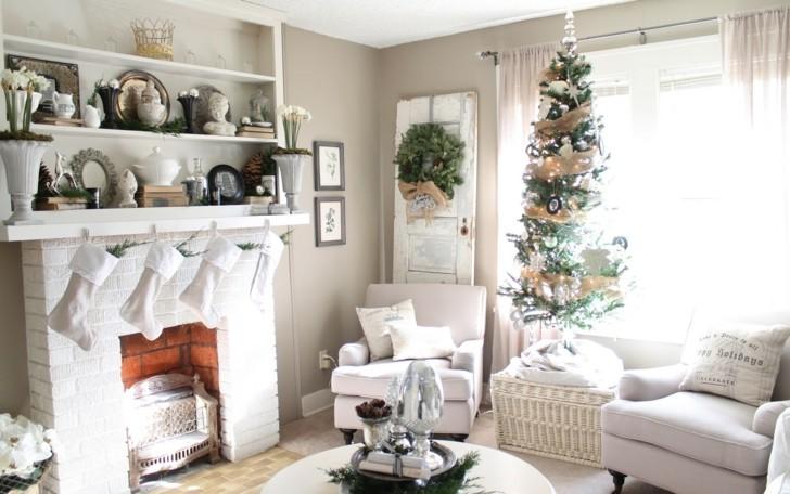 como decorar un salon blanco navidad