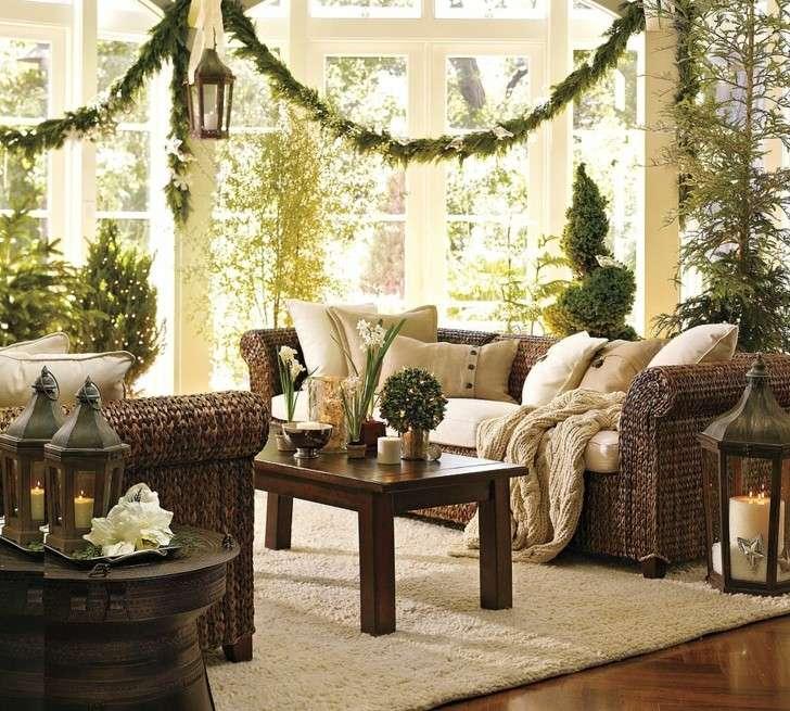 como decorar un salon navidad verde
