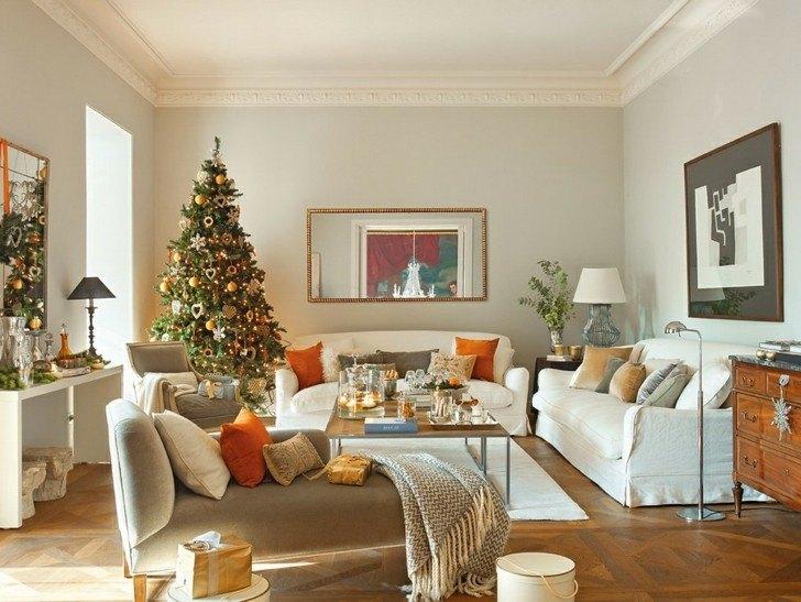 Como decorar un salon para la navidad 50 ideas - Como decorar mueble salon ...