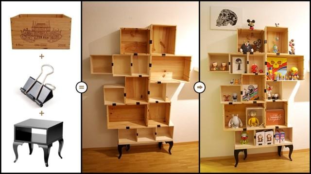 Decorar cajas de madera de vinos y amueblar con ellas - Como decorar una caja de madera ...