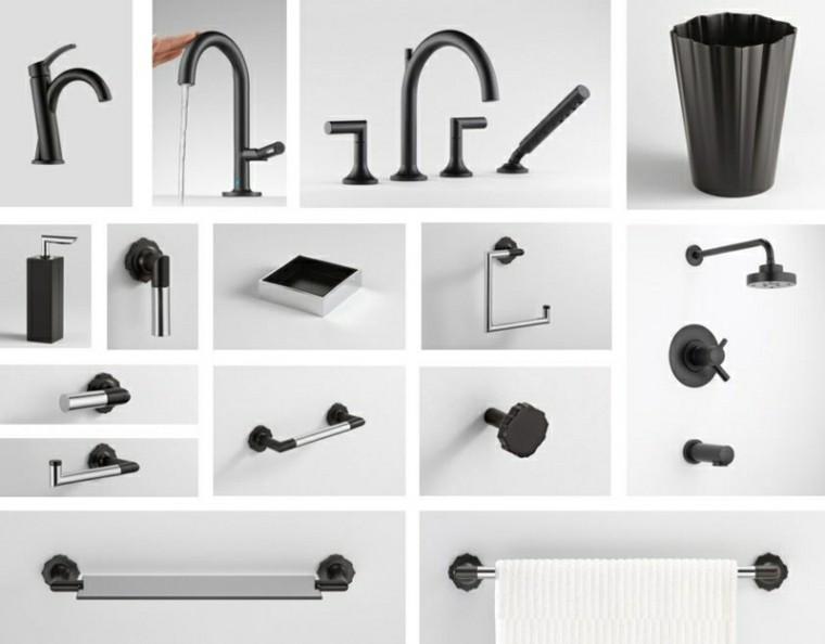 complementos baño grifos color negro