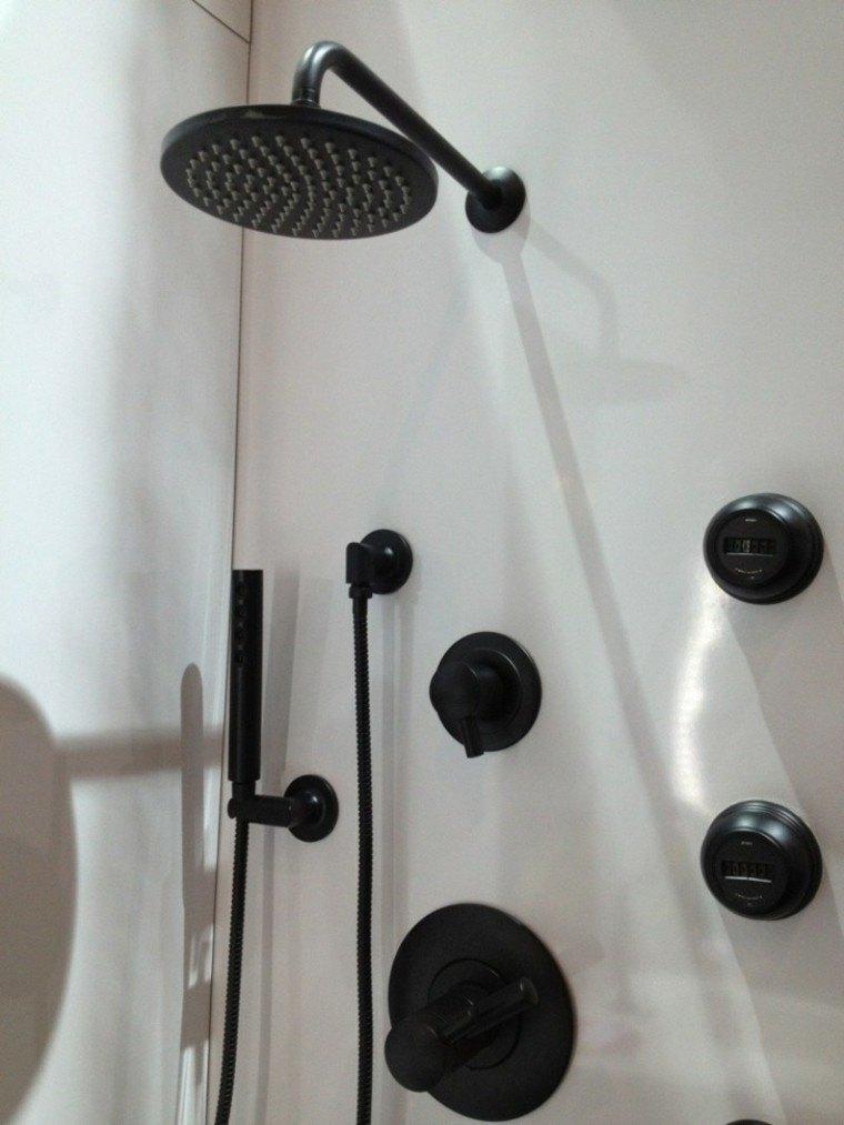 conjunto grifos ducha modernows negros