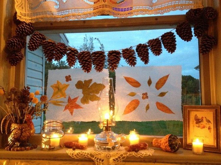 cono decorado otoñal diferente calido cortinas