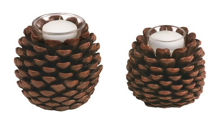 cono decorado otoñal romatico velas