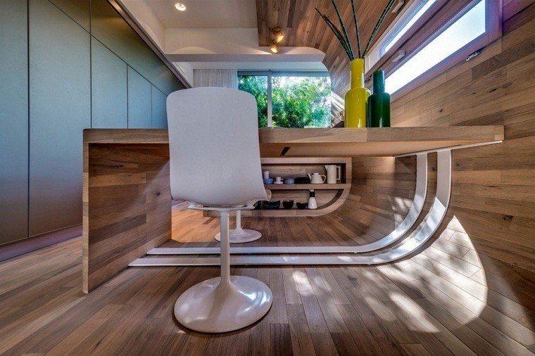 contemporaneo salon paredes maderas complementos