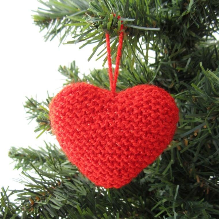 corazon rojo variable estilo colgante