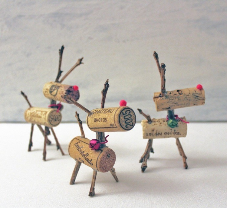 corchos recuperado patas madera vino