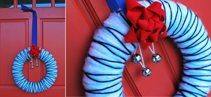corona color azul tres cascabeles