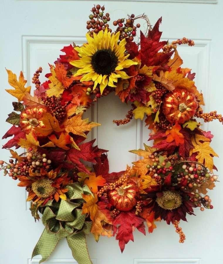 corona otoño hojas secas
