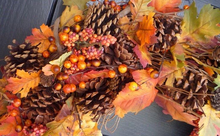 corona hojas plnats colorida entrelazado