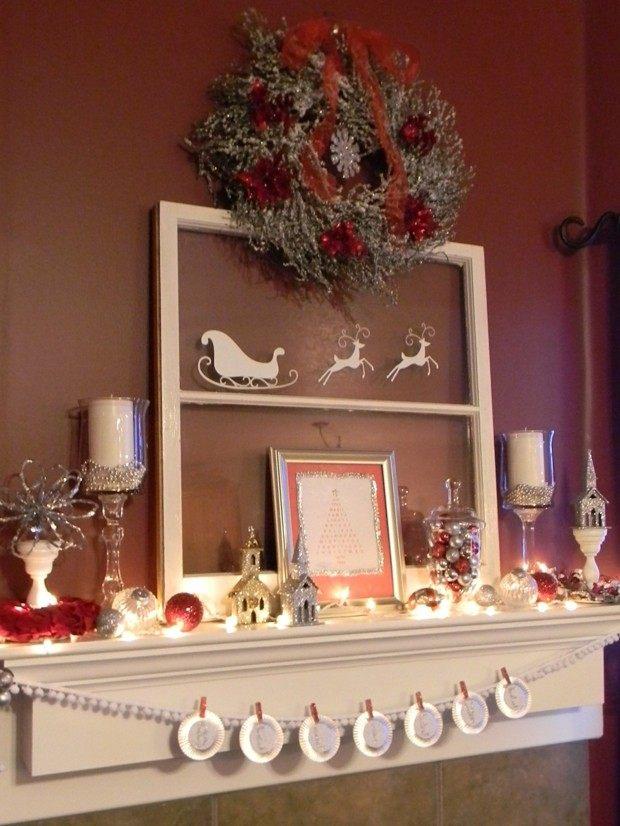 corona navidad pared color marrón