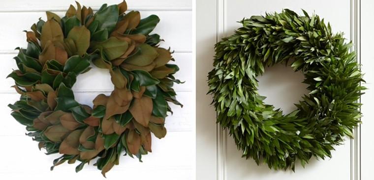 diseños coronas adviento hojas magnolio