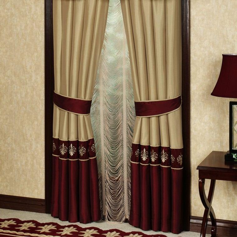 cortina romana estilo lampara mesa
