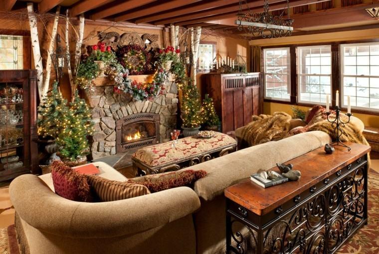 decoración navidad estilo rustico