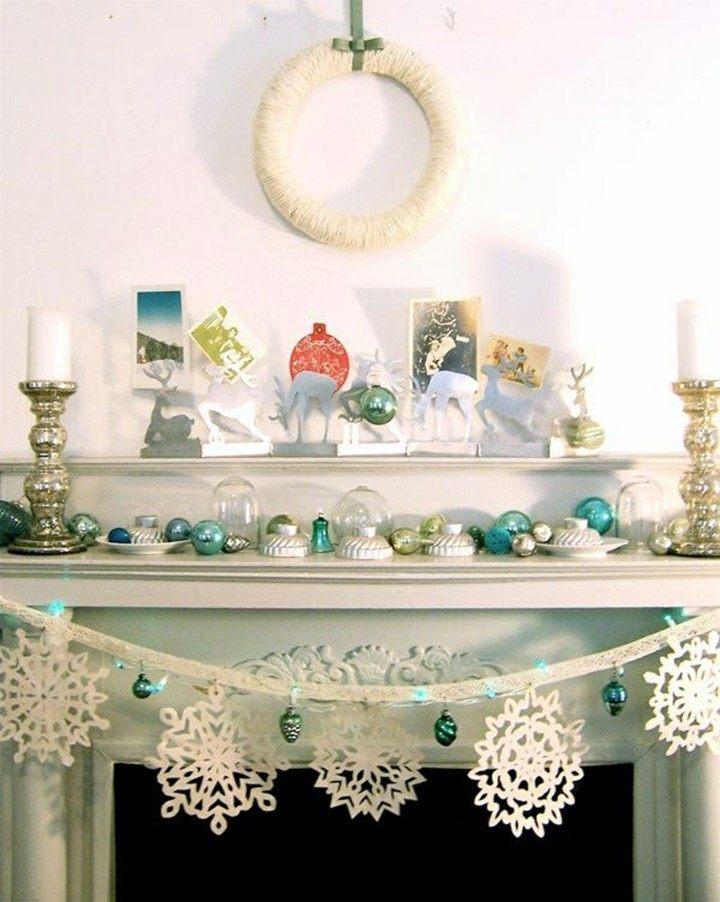 deco navidad colores blanco azul