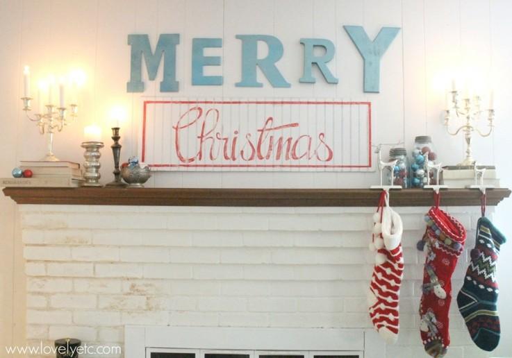 deco moderna navidad carteles letras