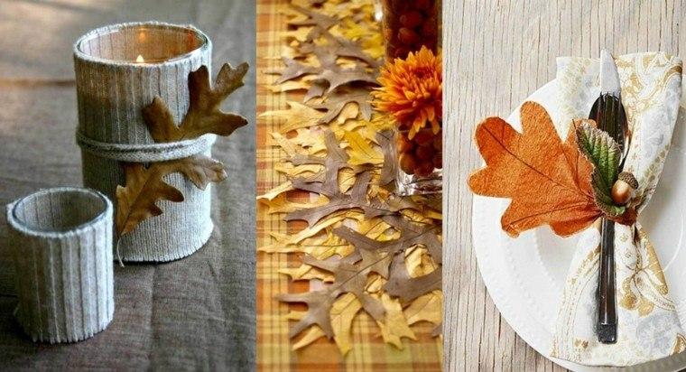 decorar adornos hojas de árboles