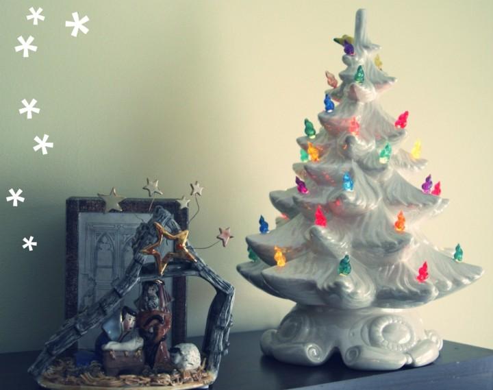 decorar arbol navidad porcelana