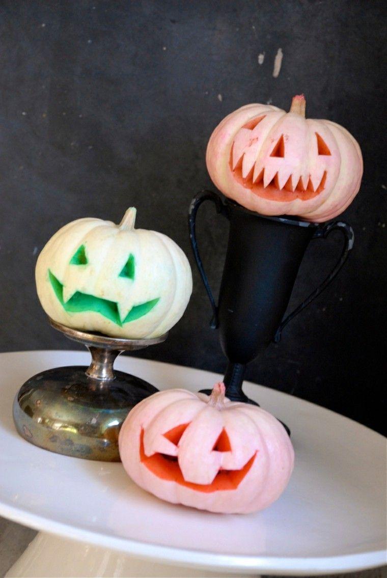 decorar calabazas caras fiesta halloween