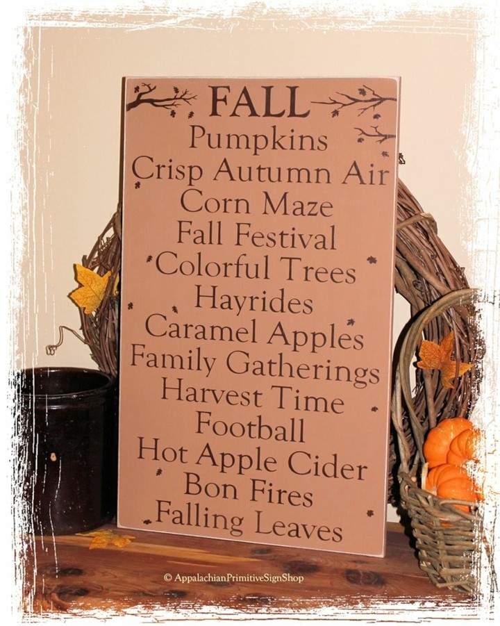 decoración cartel palabras otoño