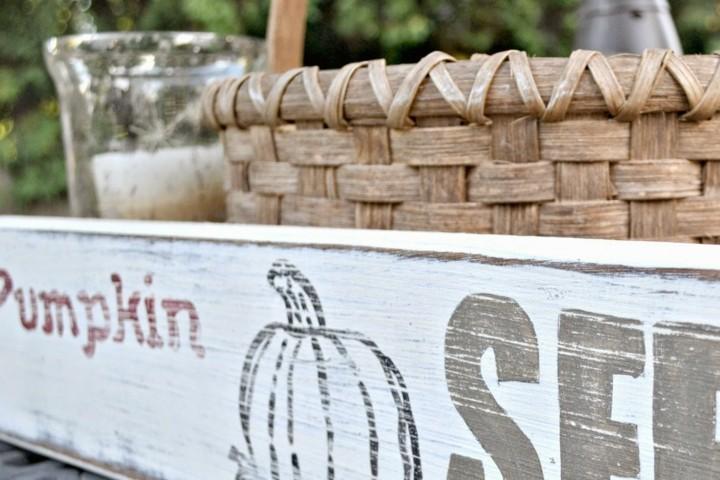 decoración cartel otoño jardin